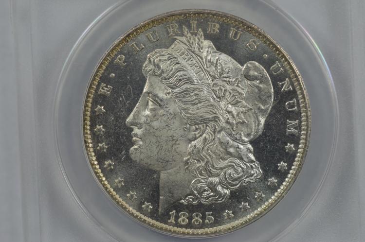 $1.00 Silver 1885-O ANACS MS63 PL