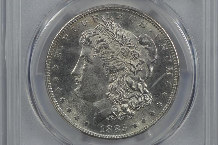 $1.00 Silver 1885-S PCGS MS62