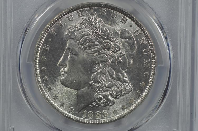 $1.00 Silver 1886 PCGS MS66.