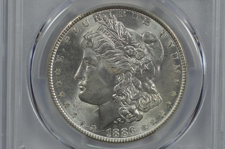 $1.00 Silver 1886 PCGS MS65