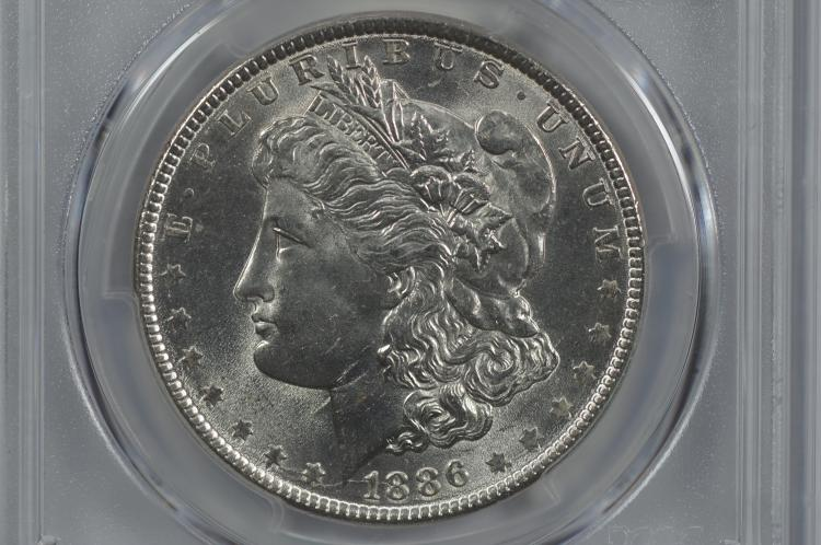 $1.00 Silver 1886 PCGS MS65.