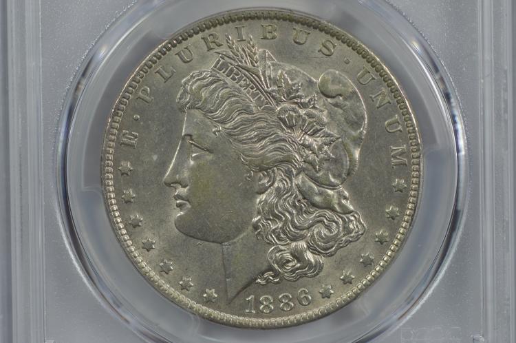 $1.00 Silver 1886-O PCGS AU58