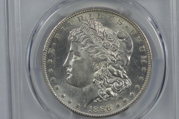 $1.00 Silver 1886-S PCGS AU58