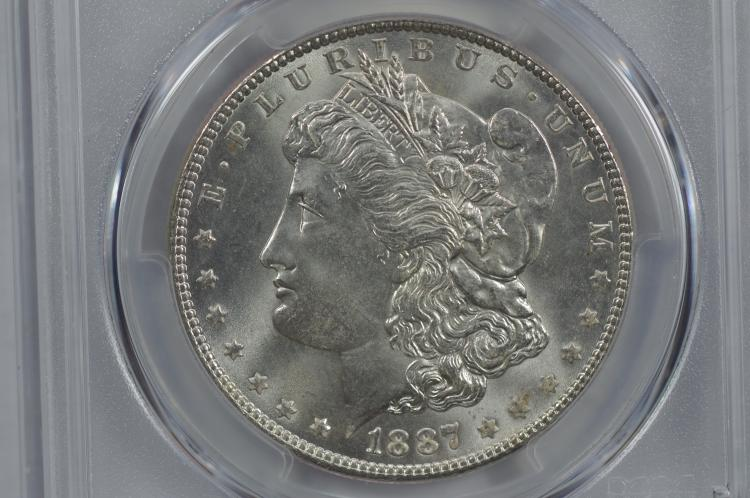 $1.00 Silver 1887 PCGS MS66.