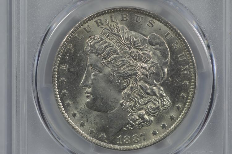 $1.00 Silver 1887-O PCGS MS63