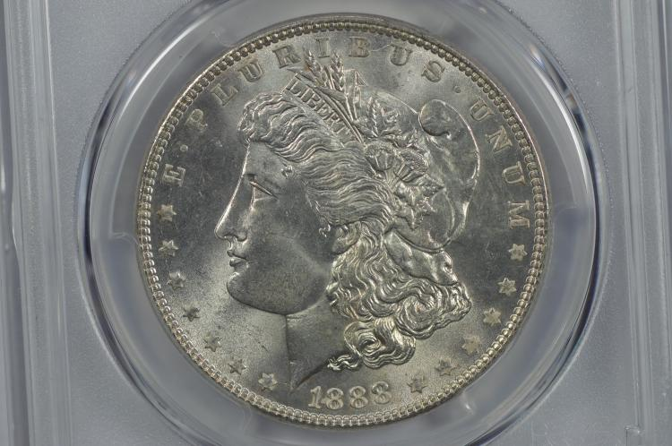 $1.00 Silver 1888 PCGS MS65+