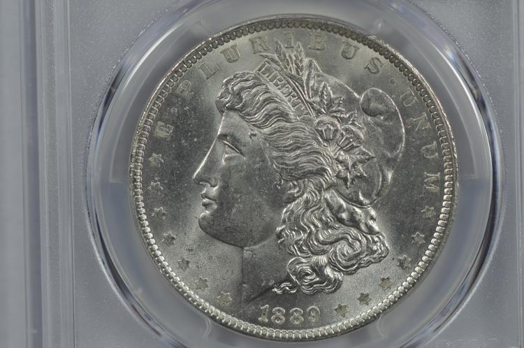 $1.00 Silver 1889 PCGS MS65