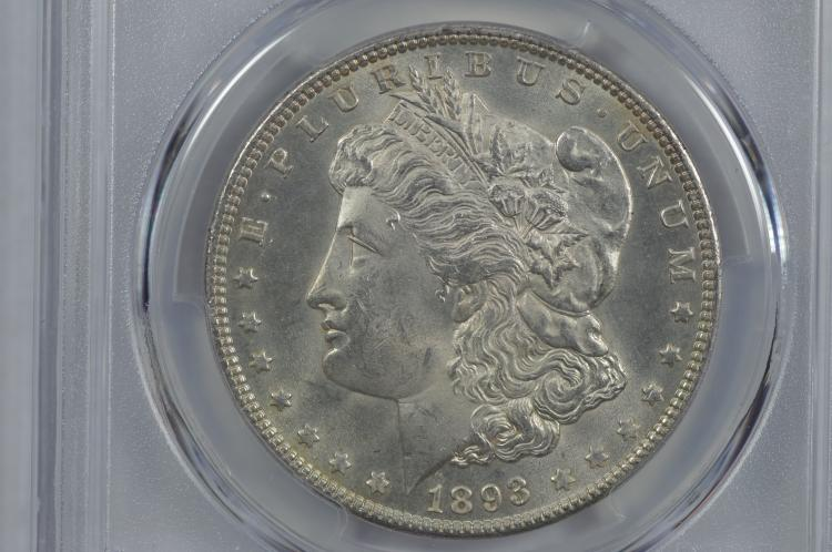 $1.00 Silver 1893 PCGS MS63