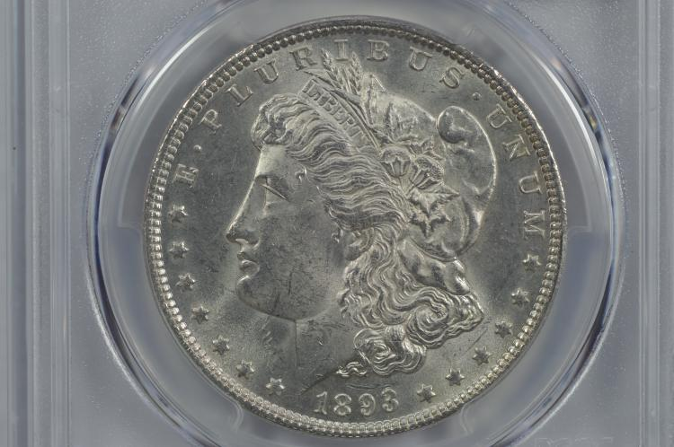 $1.00 Silver 1893 PCGS MS62