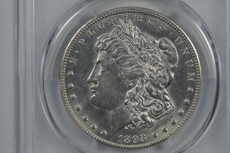 $1.00 Silver 1893-O PCGS AU55