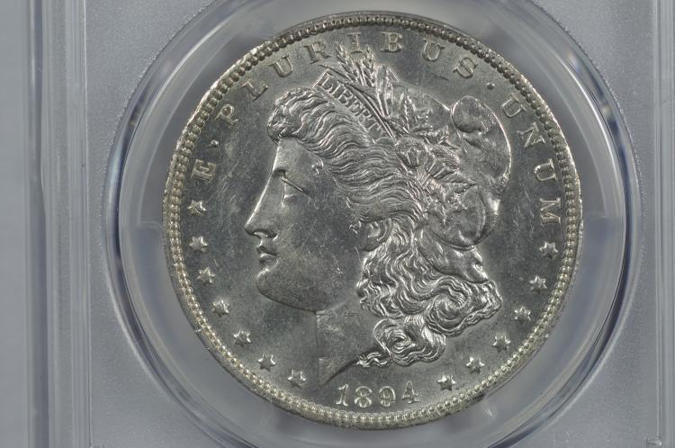 $1.00 Silver 1894-O PCGS AU58