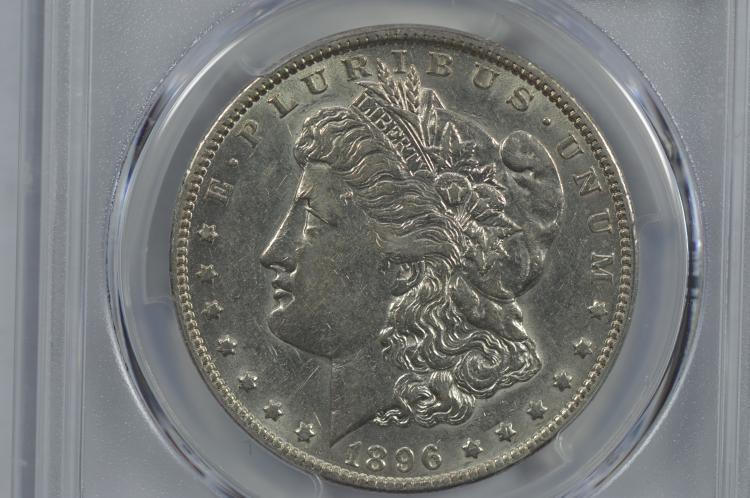 $1.00 Silver 1896-O PCGS AU50