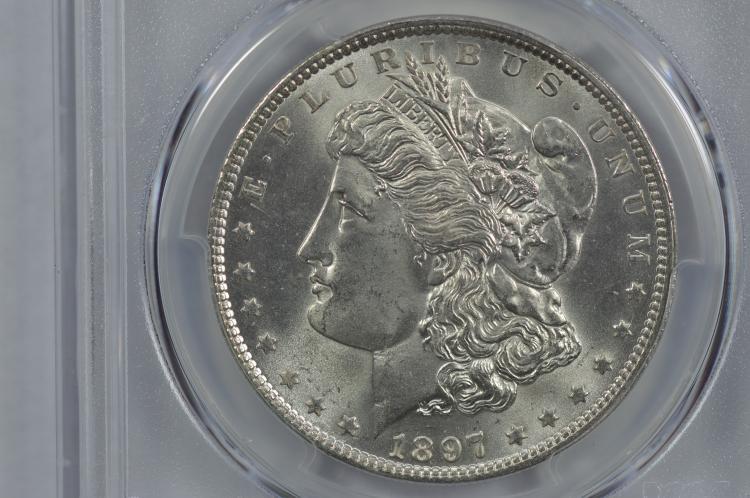 $1.00 Silver 1897 PCGS MS65.