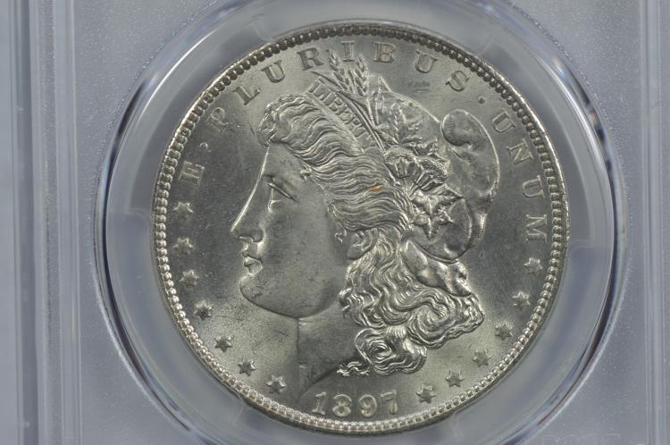 $1.00 Silver 1897 PCGS MS65