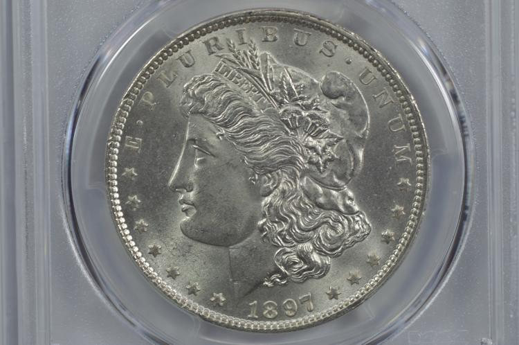 $1.00 Silver 1897 PCGS MS65.