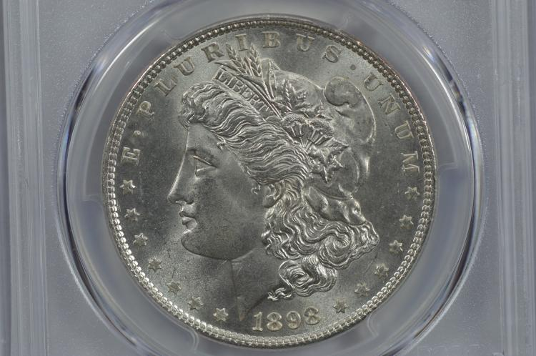 $1.00 Silver 1898 PCGS MS66.