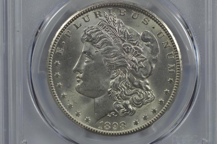 $1.00 Silver 1898-O PCGS MS65