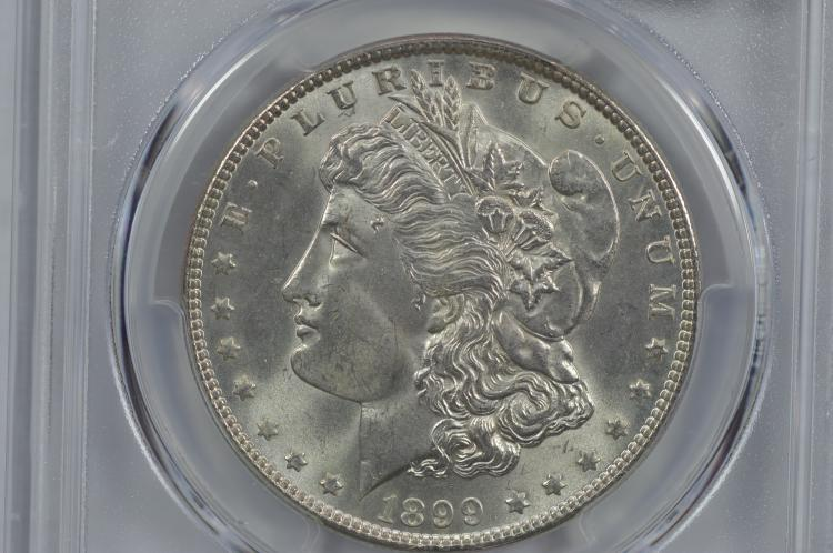 $1.00 Silver 1899 PCGS MS65