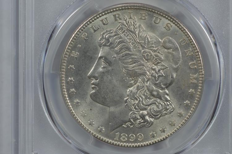$1.00 Silver 1899 PCGS MS64