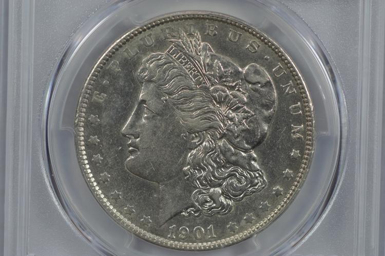 $1.00 Silver 1901 PCGS AU50