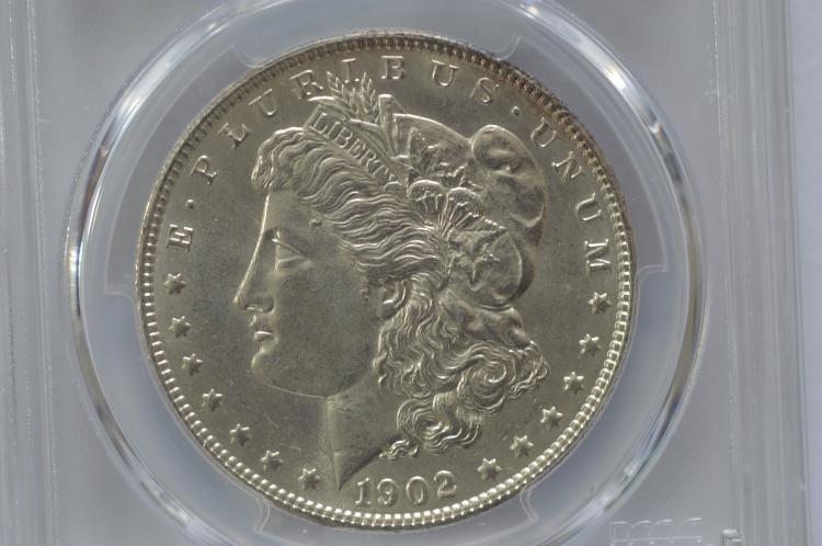$1.00 Silver 1902 PCGS MS63