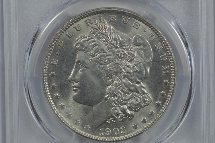 $1.00 Silver 1903 PCGS MS66.
