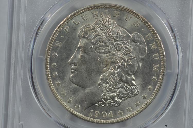 $1.00 Silver 1904-O PCGS MS65