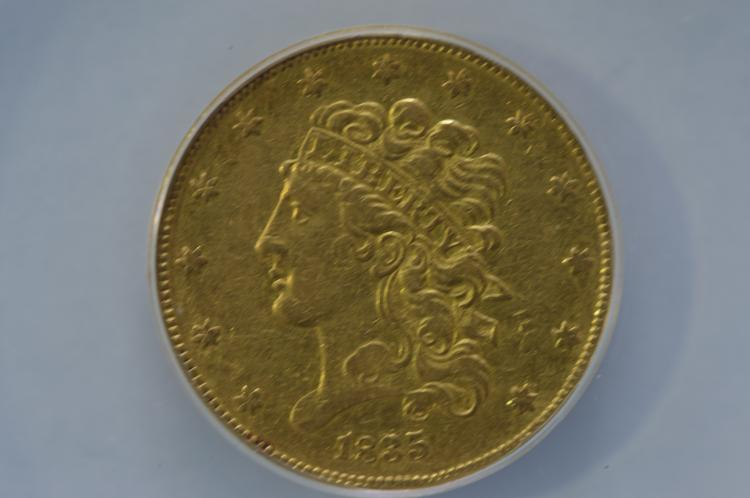 $5.00 Gold 1835 ANACS EF40