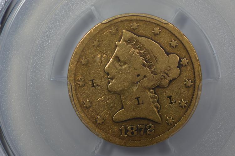 $5.00 Gold 1872-S PCGS Genuine-Good Details-Graffit