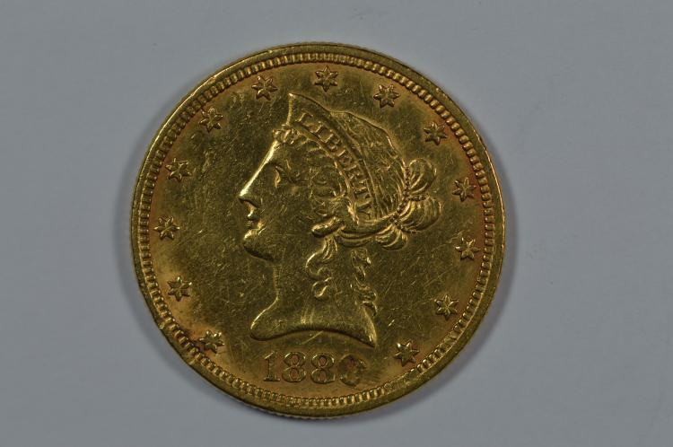 $10.00 Gold 1880.