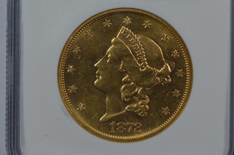$20.00 Gold 1872-S NGC AU58
