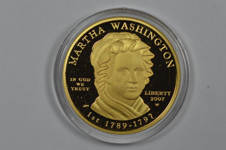 2007 First Spouse Series $10.00 Gold- Martha Washington