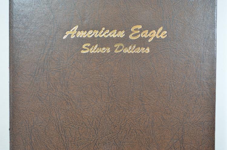 A complete set of Uncirculated Silver Eagles (1986-2016)