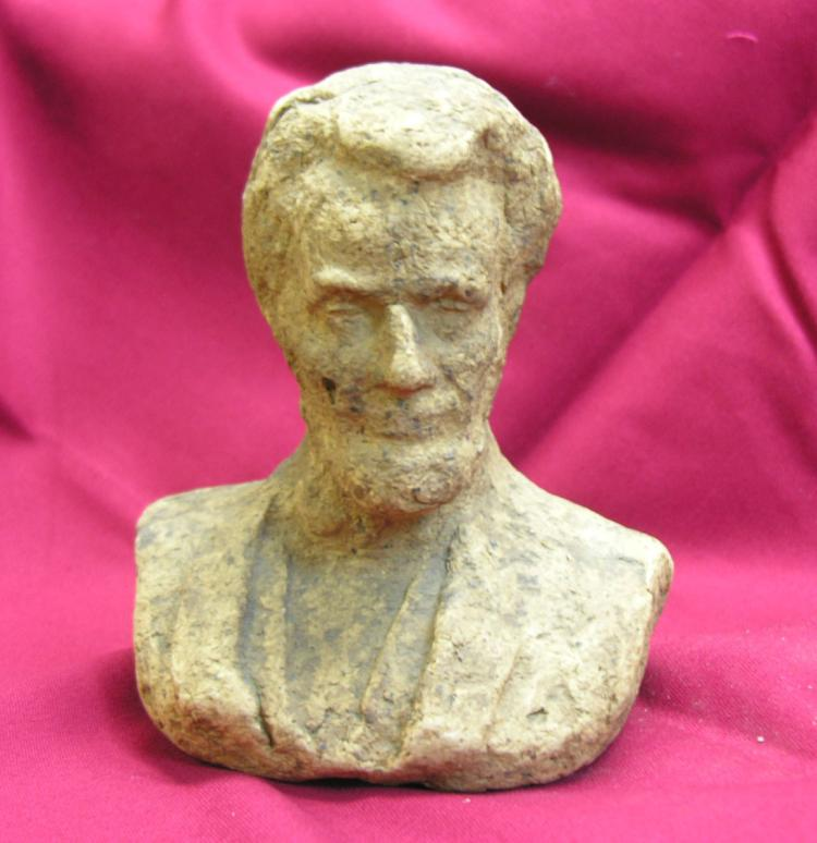 Abraham Lincoln Bust Made from U.S. Paper Money Macerated at the U.S. Treasury around 1880