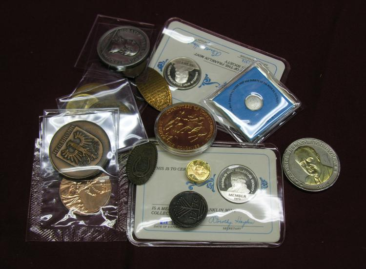 An interesting melange of medals, tokens, and more