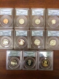 An individually certified 2005 eleven piece Silver U.S. Proof Set