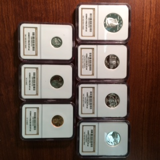 A partial NGC certified 2006-S Silver Proof Set
