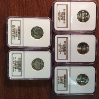 The remainder of the NGC certified Statehood Quarters