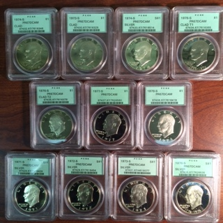 A Full Set of PCGS Certified Proof Eisenhower Dollars (1971-1978)