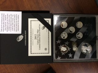 U.S. Mint 2012 Limited Edition Silver Proof Set.