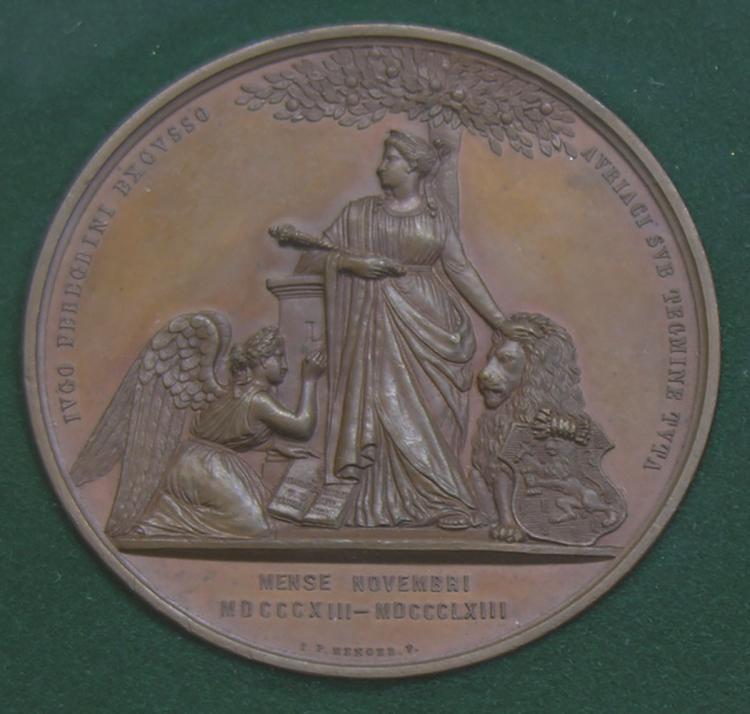 Netherlands. 1883 Bronze Medal by I.P. Mense