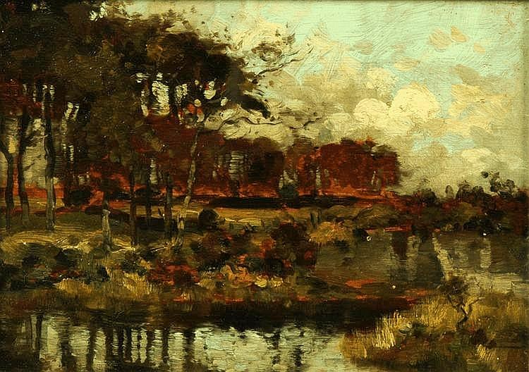 J. Taylor Brown (Fl. 1893-1940), an oil painting
