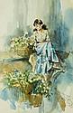 Gordon King, a watercolour,