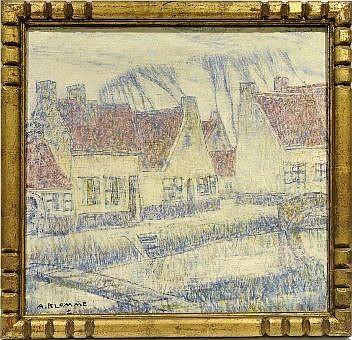 Alfons Blomme (1889-1979). Village en Flandre