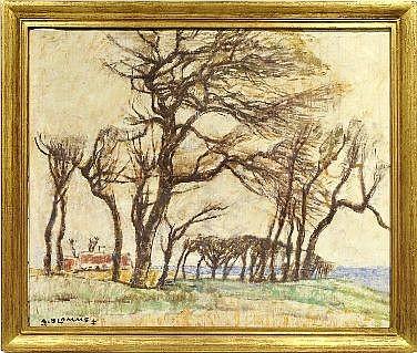Alfons Blomme (1889-1979). Paysage aux grands