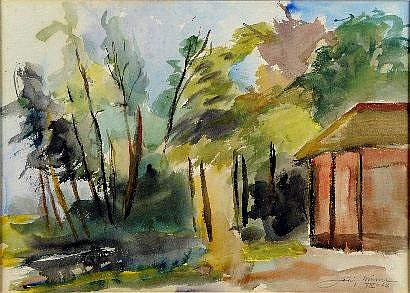 Joris Minne (1897-1988). Dimensions: 0m39 x 0m53