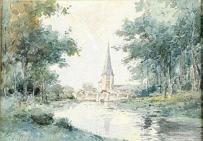Armand Heins (1856-1938). Dimensions: 0m25 x 0m35