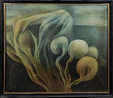 Yves Rhayé (1936-1995).    Dimensions: 0m90 x 1m00
