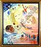 Fernand Steven (1895-1955). Jeux d'Enfants. Huile