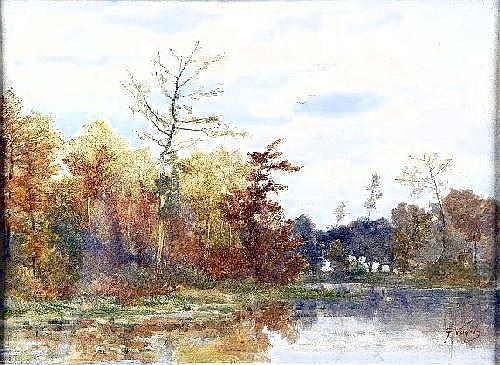 Guillaume Vogels (1836-1896). Vue du